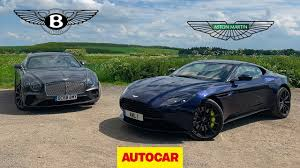 Bentley Continental Gt Vs Aston Martin Db11 Amr Two Great Gt Cars Reviewed Autocar Youtube