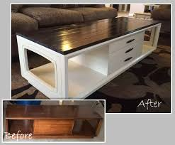 diy 70 s coffee table makeover added