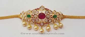 Simple Armlet Designs 22k Gold Armlet Design From Swaastik Pearl Necklace