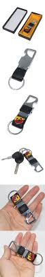 KUNBABY 1PCS Leather+Metal Car Keychain Keyring Key Ring Chain for FIAT  Abarth 500 Punto