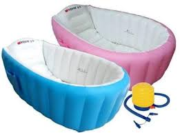 intime inflatable baby bath tub spa bak angin mandi anak bayi