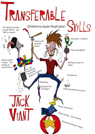 jack viant illustration transferable skills poster transferable skills poster