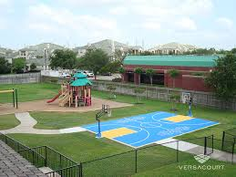Backyard Basketball And Tennis Court Just Maybe Less Color Backyard Tennis Court Cost