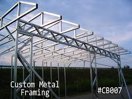 metal framing shed. Custom-web-truss-loafing-shed-framing Metal Framing Shed