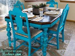 Repainted Distressed Dining Table Chairs By Restoration Redoux