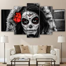 Skull Bedroom Decor Compare Prices On Sugar Skull Art Online Shopping Buy Low Price