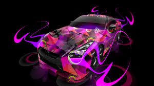 nissan gtr r35 super abstract car