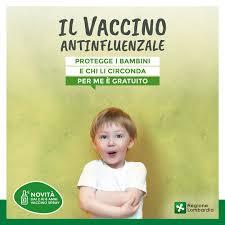 Regione Lombardia - Il vaccino antinfluenzale è gratuito per i bambini da 6  mesi a 6 anni ed è consigliato per quelli da 6 a 24 mesi che frequentano il  nido. Per