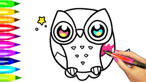 Small Picture How to Draw and Color OWL Coloring Pages for Kids to Learn Colors