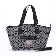 Coach Legacy In Signature Jacquard Medium Grey Totes EWR