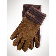 Lyst - Polo ralph lauren Quilted Suede Gloves in Brown for Men & Gallery Adamdwight.com