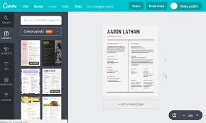 Free Sample Resume For Internships By Canva