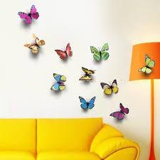 Adesivi murali farfalla 21 singole farfalle vivacemente colorato
