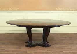 large round transitional ebonized dining table