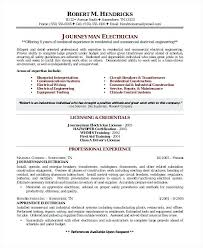 Electrician Resume Enchanting Best Electrician Resume Electrician Format Journeyman Electrician