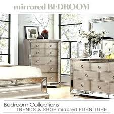 mirrored glass bedroom furniture black