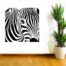 Small Picture Aliexpresscom Buy CaCar New Design Geometric Zebra Wall Sticker