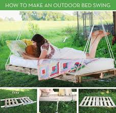 how to pallet furniture. VIEW IN GALLERY Pallet Swing Bed-wonderfuldiy How To Furniture A
