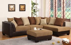 elegant light plus dark brown sectional sofa