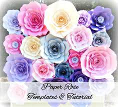 Diy Giant Paper Rose Flower Diy Giant Paper Rose Pattern Templates And Tutorials Garden Birthday Party Decor Flower Wall Printable Pdf And Svg Cut Files
