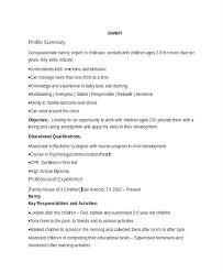 nanny duties resume sample nanny resume sample nanny resume list of nanny  duties resume