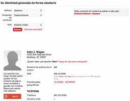 Anónimamente Nombres Para Falsos En Sitios De Web Generador Registrarte