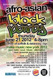 Block Party Flyer Afro Asian Block Party Flyer Draf Ink Studios