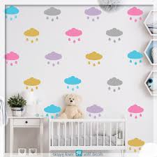 raindrops wall decals clouds sticker