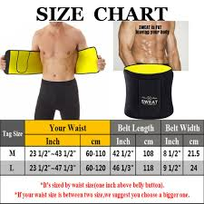 Neoprene Gym Waist Trainer Body Shaper Belt Sauna Sweat Girdle Slim Shapewear Us