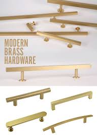 furniture hardware pulls. modern satin brass hardware to update a vintage mid century furniture piece. adds style pulls :