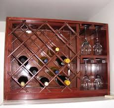 wine rack with built in wine glass storage