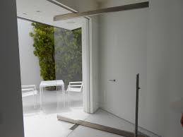 outdoor garden glass railing pivot glass door installation