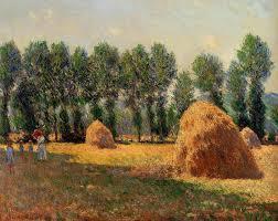 claude monet haystacks at giverny 1885
