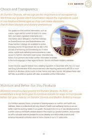 Dunkin Donuts Allergen Chart Dunkin Brands Corporate Social Responsibility Report Pdf