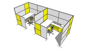 modern office cubicles. Large Preview Of 3D Model Modern Office Cubicles And Partitions By IDivideWalls.com
