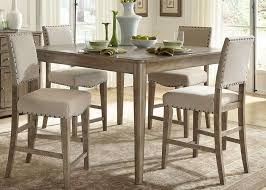 image of bar height dining table rectangle