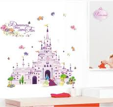 disney cartoon castle wall stickers for kids rooms nursery wall sticker decoration