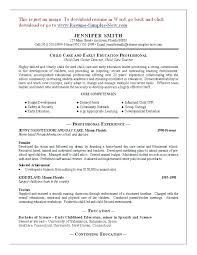 Assistant Director Child Care Resume Sample Best Resumes For