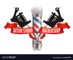 Designer Barber And Stylist School Tattoo Studio And Barber Shop Label
