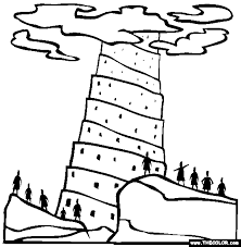 Small Picture Tower Of Babel Coloring Page Free Tower Of Babel