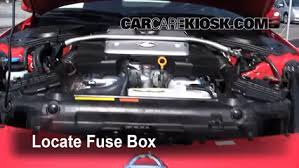 replace a fuse 2009 2016 nissan gt r 2011 nissan gt r premium locate engine fuse box and remove cover