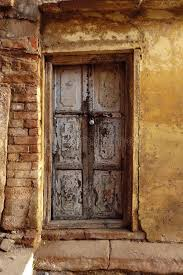 old wood door india rough wall stock image image of giving beautiful