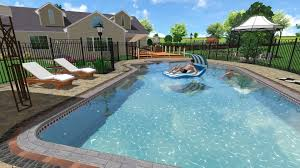 Swimming Pool Landscaping Designs 3d Pool Design Pool Design And Pool Ideas