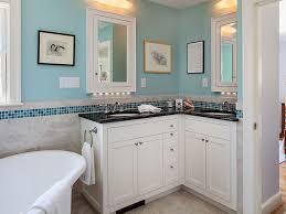 custom corner vanity with two sinks and under cabinet lighting concord ma master suite platt builders