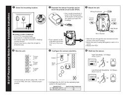 honeywell is215t install guide is312 pir at Honeywell Pir Sensor Wiring Diagram
