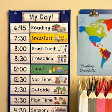 Esl printable daily routines vocabulary worksheets, picture dictionaries, matching exercises, word search. Visual Schedule Cards Crafting Cheerfully