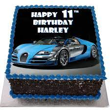 New blue bugatti, i want it, i got it, i can / feel like the man with that new dae dae chain / these niggas playin' like i won't top they mans / jump out that range and i jump in Bugatti Veyron Birthday Cake Flecks Cakes