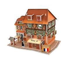 Details About Diy Wooden Dollhouse Miniature Coffee Shop Model Furniture Kits Puzzle Toys