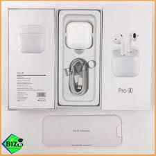 BẢN NÂNG CẤP - BH 6 THÁNG]] Tai nghe mini Airpods Pro 4 Bluetooth 5.0 TWS,  cảm biến, đổi tên, định vị chuẩn - Tai nghe Bluetooth nhét Tai Nhãn hiệu No  Brand