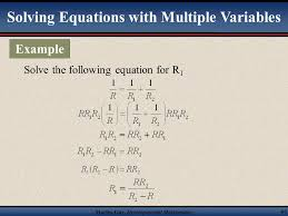 martin developmental mathematics 59 solving an equation with multiple variables for one of